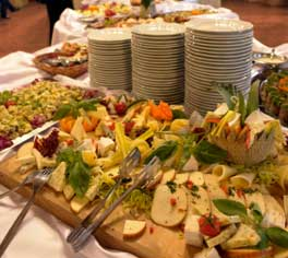 A catered buffet